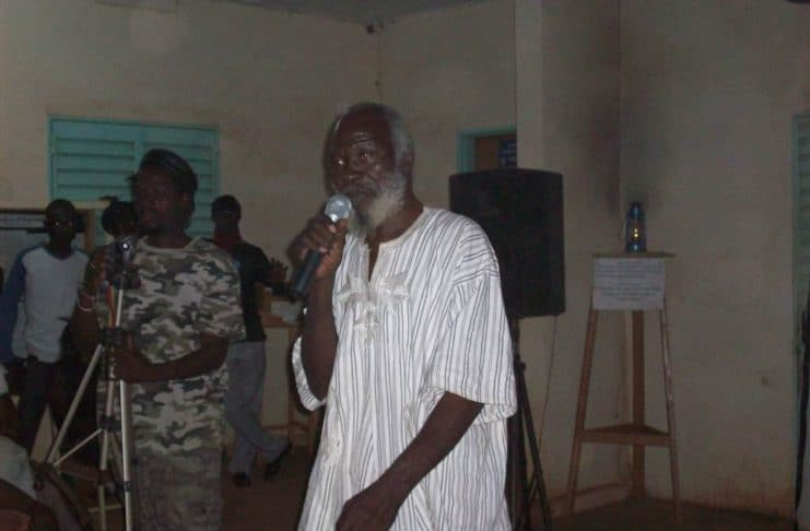 Le ion témoigne à Sankara Revival (photo Souleymane Yameogo)