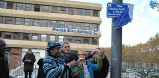 Mariam Sankara et Mme Helene Mandroux, maire de Montpellier
