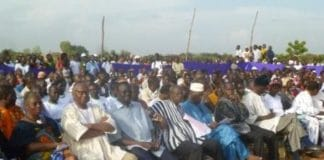 Germaine Pitroipa (1ere gauche) Ouagadougou le 15 octobre 2012 (photo Bruno Jaffre)