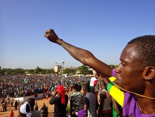 Manifestation du 28 octobre à Ouagadougou (photo Ave Mada)