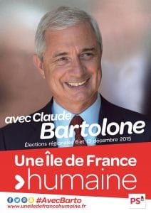 Affiche de Bartolone en campagne electorale